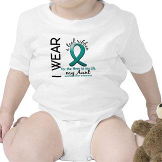 Héroe del cáncer ovárico en mi tía 4 de la vida camiseta