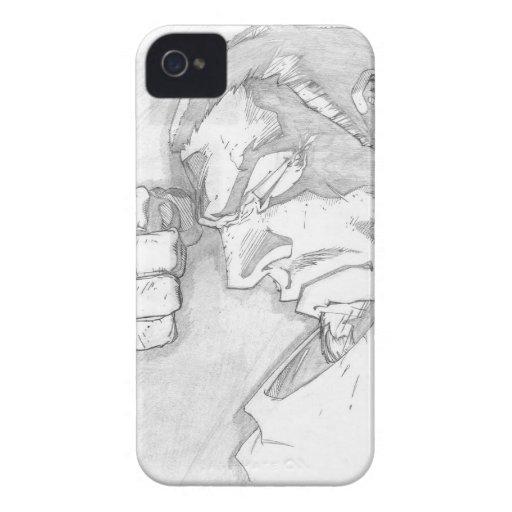 Héroe del dibujo de lápiz - caso del iPhone 4/4S iPhone 4 Cárcasa