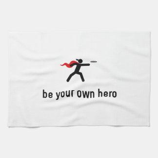 Héroe del disco de vuelo toallas