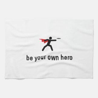 Héroe del disco de vuelo toallas de mano