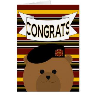 Héroe del ejército de la enhorabuena tarjeta de felicitación