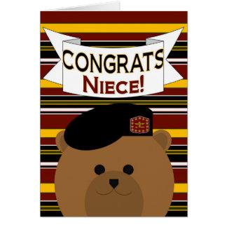 Héroe del ejército de la sobrina de Congrats Tarjeta De Felicitación