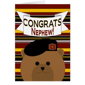 Héroe del ejército del sobrino de Congrats Tarjeta De Felicitación