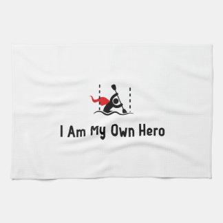 Héroe del eslalom de la canoa toallas