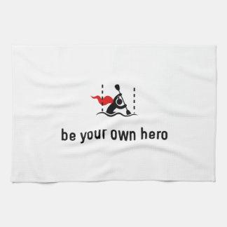 Héroe del eslalom de la canoa toallas de cocina