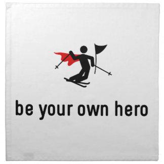 Héroe del eslalom del esquí servilletas