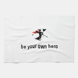 Héroe del eslalom del esquí toalla de mano