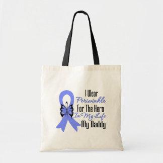Héroe del esófago de la cinta del cáncer mi papá bolsa tela barata