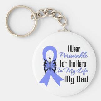 Héroe del esófago de la cinta del cáncer mi papá llavero redondo tipo pin