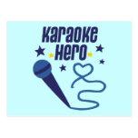 Héroe del Karaoke Tarjetas Postales