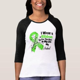 Héroe del marido en mi cinta del linfoma de la vid camiseta