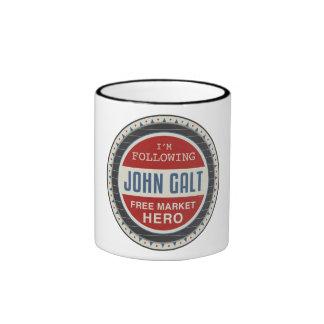 Héroe del mercado libre taza de dos colores
