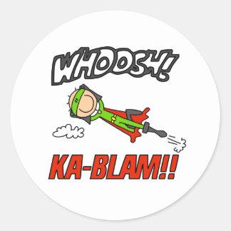 Héroe del muchacho de Blam de ka Etiqueta