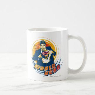 Héroe del mundo del superhombre tazas de café
