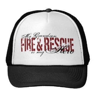 Héroe del nieto - fuego y rescate gorras de camionero