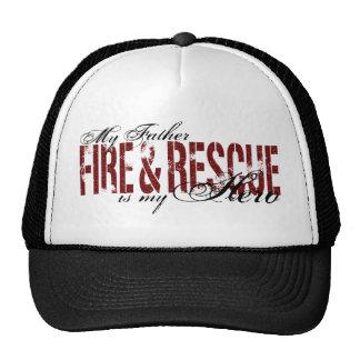 Héroe del padre - fuego y rescate gorra