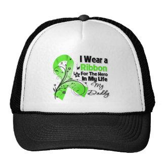 Héroe del papá en mi cinta del linfoma de la vida gorros
