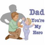 Héroe del papá escultura fotográfica