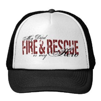 Héroe del papá - fuego y rescate gorros bordados
