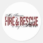 Héroe del prometido - fuego y rescate pegatina