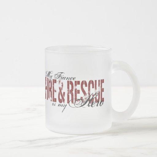 Héroe del prometido - fuego y rescate taza de café