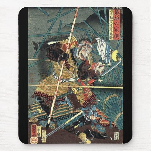 Héroe del samurai mouse pad