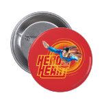 Héroe del superhombre con el corazón pin