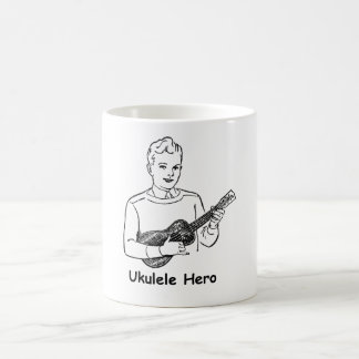 Héroe del Ukulele Taza Básica Blanca