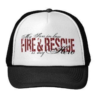 Héroe del yerno - fuego y rescate gorras de camionero