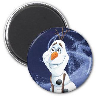 Héroe fresco de Olaf el | pequeño Imán Redondo 5 Cm