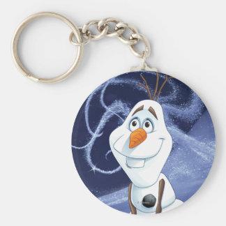 Héroe fresco de Olaf el | pequeño Llavero Redondo Tipo Pin