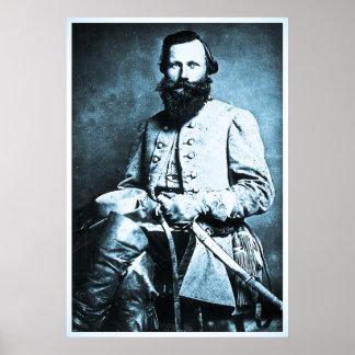 Héroe general de J.E.B. Estuardo Confederate Posters