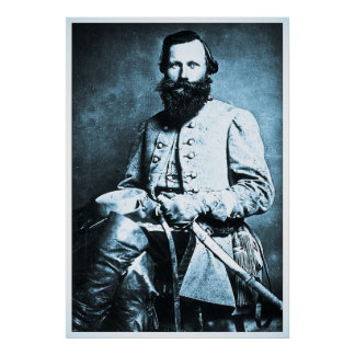 Héroe general de la guerra civil de J.E.B. Póster