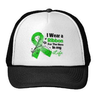 Héroe hepático de la cinta del cáncer en mi vida gorros bordados