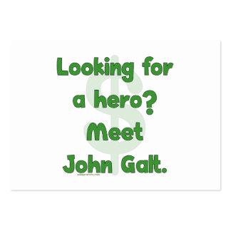 Héroe Juan Galt Tarjetas De Visita Grandes