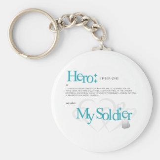 Héroe: Mi soldado Llavero Redondo Tipo Pin