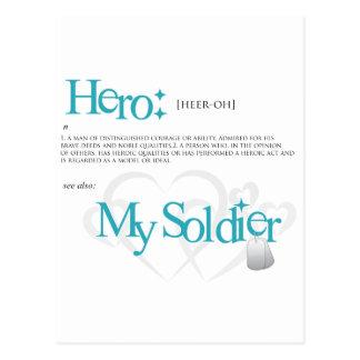 Héroe: Mi soldado Tarjeta Postal