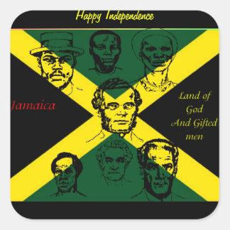 héroe nacional de Jamaica Pegatina Cuadrada