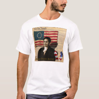 Héroe negro americano 1770 de la guerra de Crispus Playera