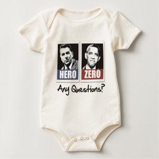 héroe obama cero de reagan body para bebé
