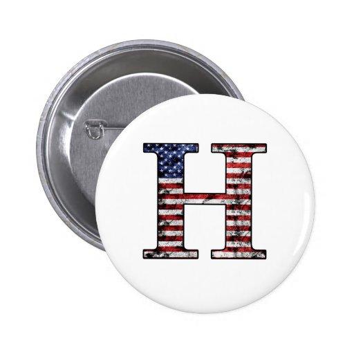 Héroe patriótico H Pin Redondo 5 Cm