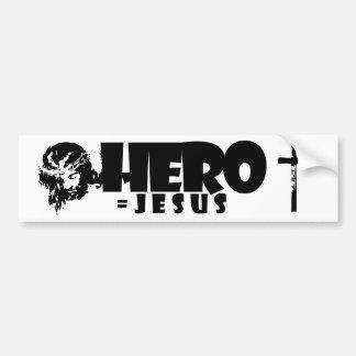 HÉROE = PEGATINA PARA EL PARACHOQUES DE JESÚS PEGATINA PARA AUTO