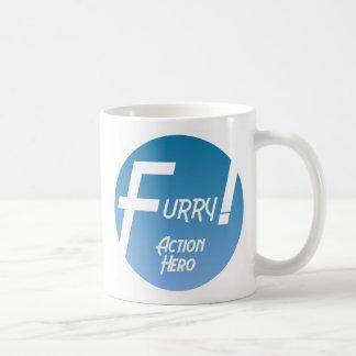 ¡Héroe peludo de la acción! Taza De Café