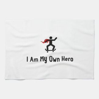 Héroe que anda en monopatín toalla