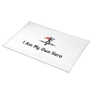 Héroe que practica surf de la paleta mantel individual
