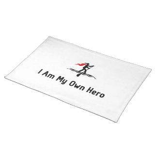 Héroe que practica surf de la paleta manteles individuales