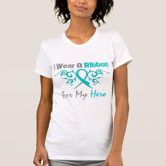 Héroe tribal de la cinta de Deco del cáncer ováric Camiseta