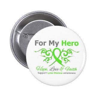 Héroe tribal de la cinta de la enfermedad de Lyme Pin Redondo 5 Cm