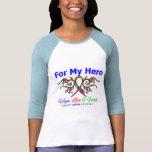 Héroe tribal de la cinta del autismo camiseta