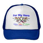 Héroe tribal de la cinta del autismo gorra